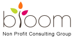 Bloom Non Profit consulting group logo with transparent background